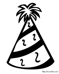 Birthday Hat Coloring Page Coloring Pages