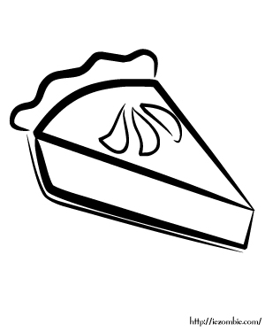 Slice of Pie Coloring Page Coloring Pages