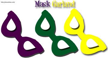 Mardi Gras Garland